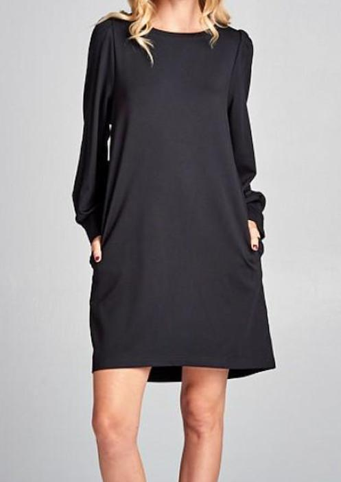 Hutton Dress in Black