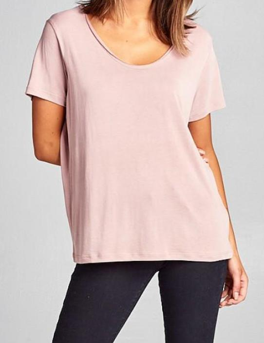 Kelly Tee in Blush