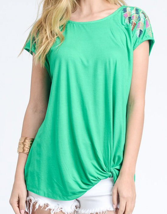 Kendi Top in Green