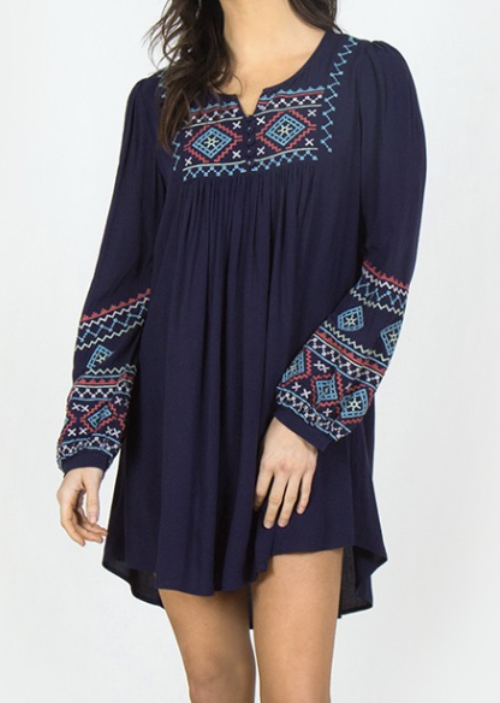Suzanne Tunic in Navy