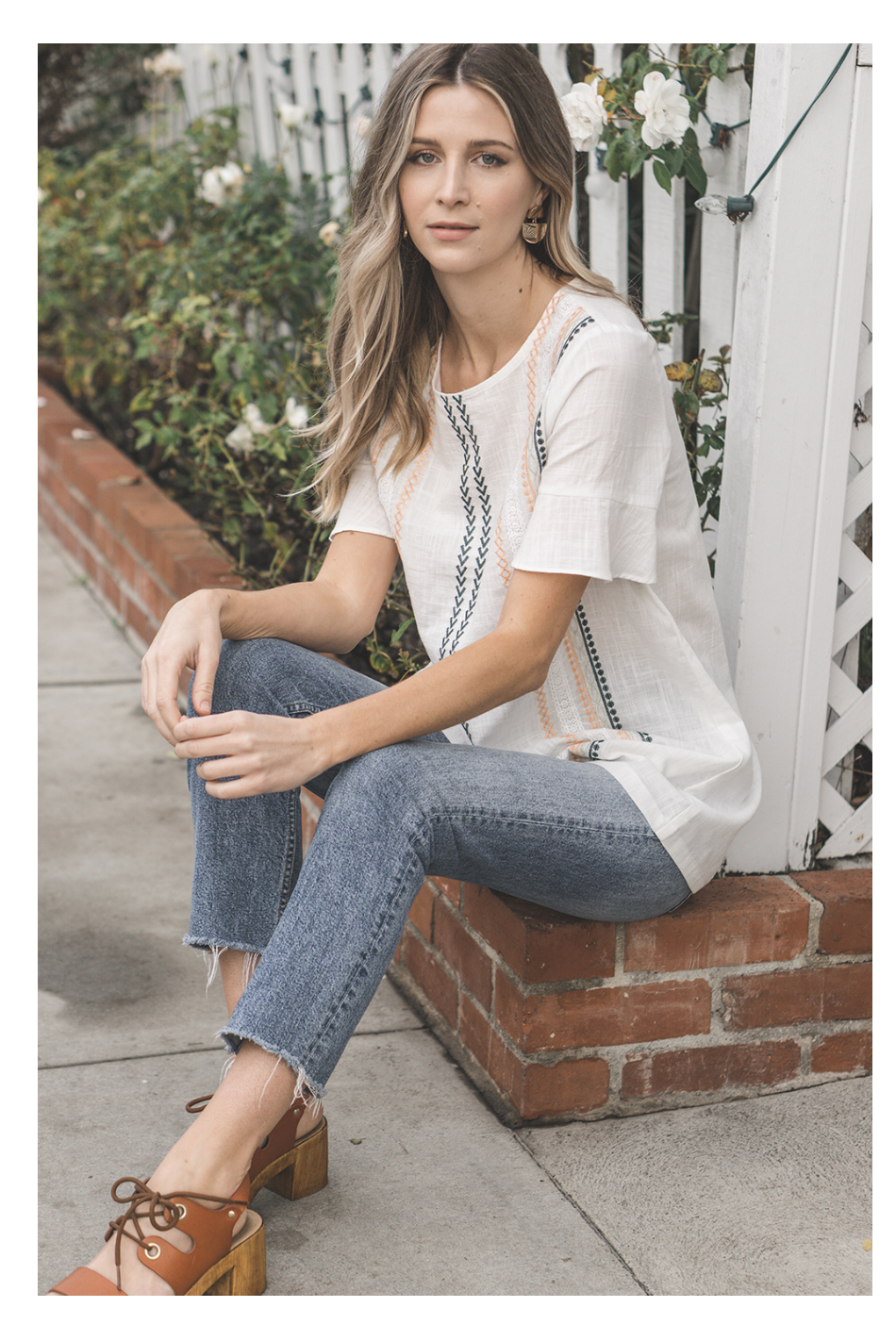 Darby Top in White