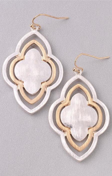 Silver & Gold Layered Earrings