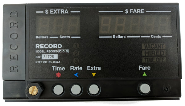 Record CG3 Bluetooth Taximeter for taxi fleets