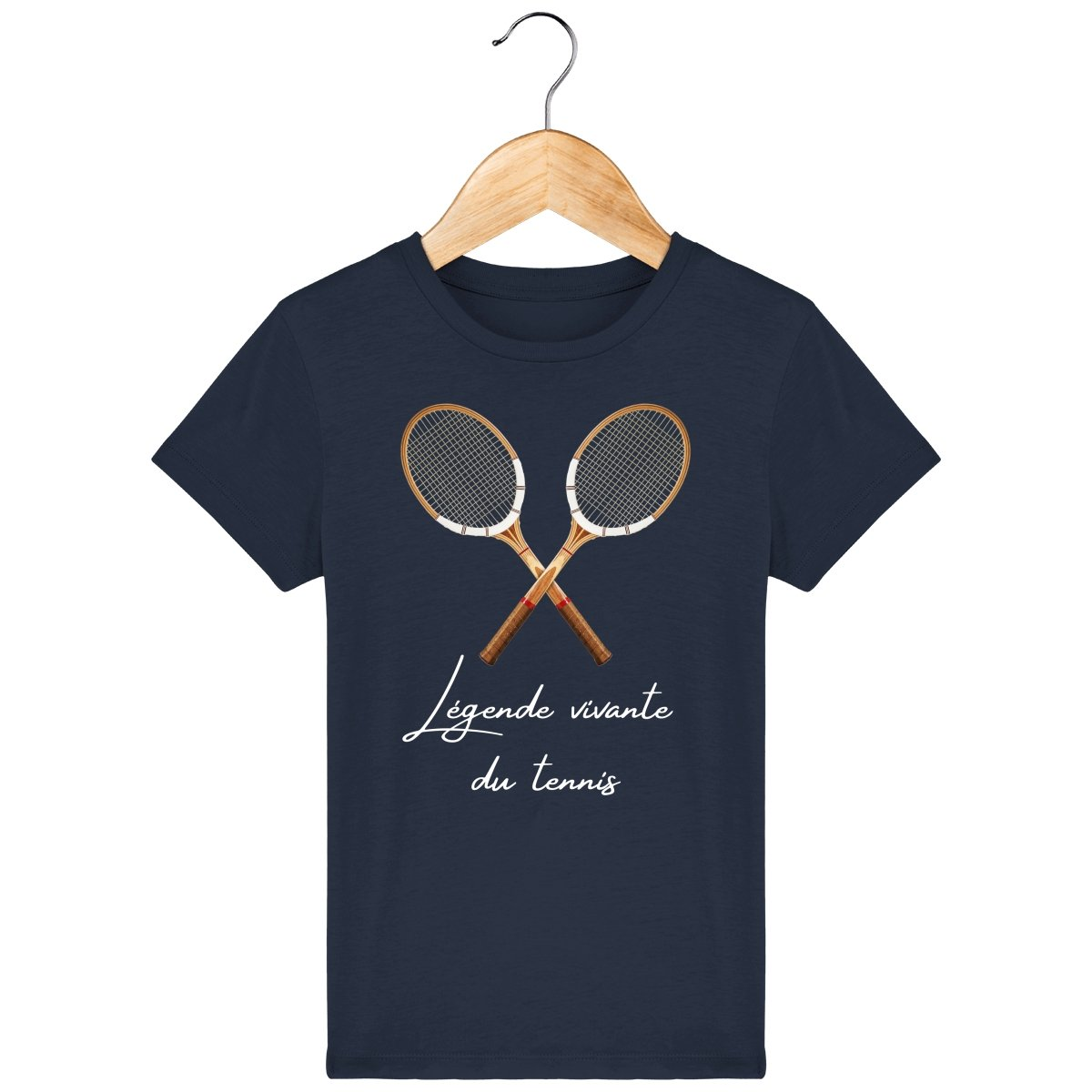 "T-shirt garçon *100% coton bio* ""Légende vivante du tennis"" - Jeu Set Match-tennis"