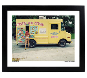 14x11 filthy ice cream poster