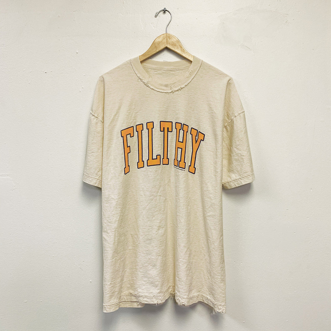 filthy vintage varsity tee (distressed)