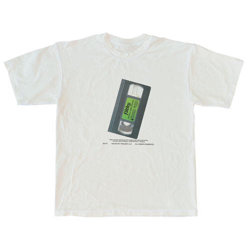 filthy VHS tee (off-white color)