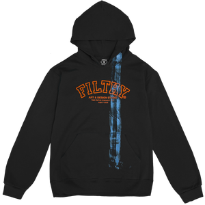 filthy® brush stroke hoodie (black)