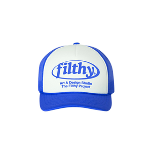 filthy® studio trucker (pink & royal)