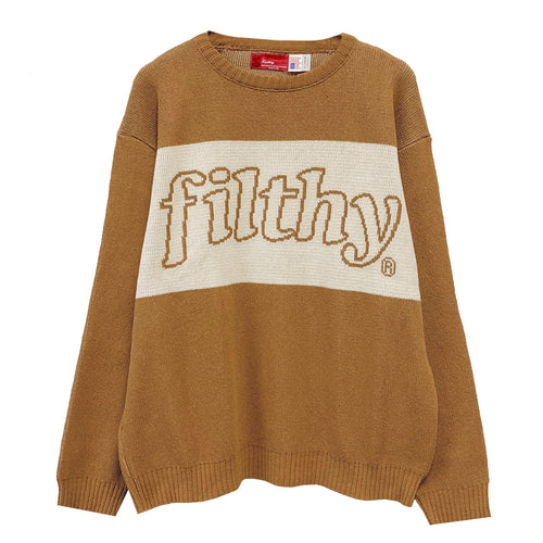 filthy® 2 tone knit sweater