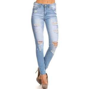 Distressed Basic Jean FINAL SALE - Shop Basic Chic