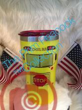 School Bus, Be nice to me color shift Tumbler FDA Approved epoxy finish  (20oz Tumbler Displayed)*