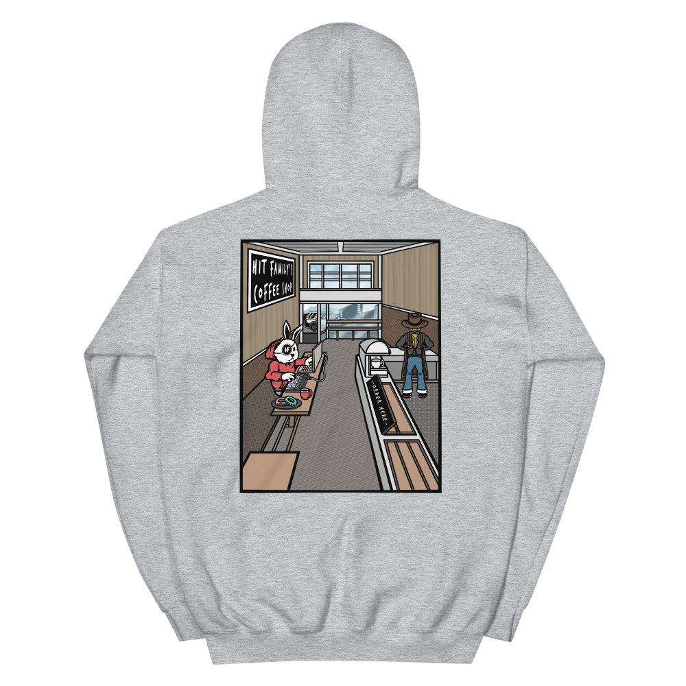 Coffee Shop Hoodie (grey)