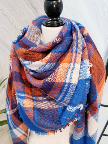 Oaklynn Scarf-Baltic Blue