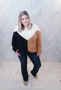 Two Sides Color Block Sweater