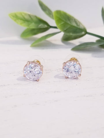 Stud Earrings - Crystal
