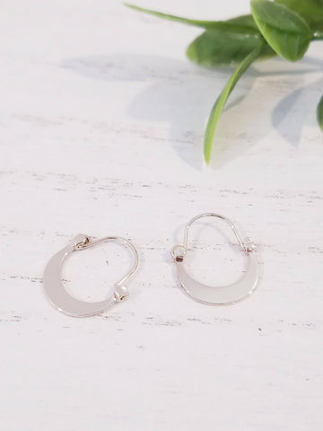 Presley Moon Hoop Earrings - Gold