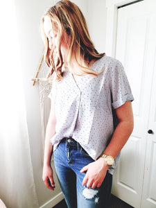 Dizzy Dots Blouse Top