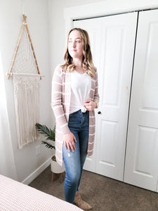 Anthro Knit Cardigan- Misty Blush