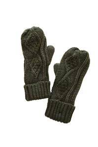 30 Knit Mitts-Olive