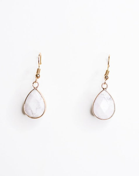 Milk Stone Earrings