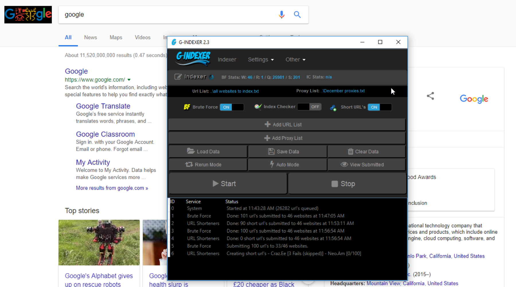 Full Review of G-Indexer: Google Instant Link Indexing Software
