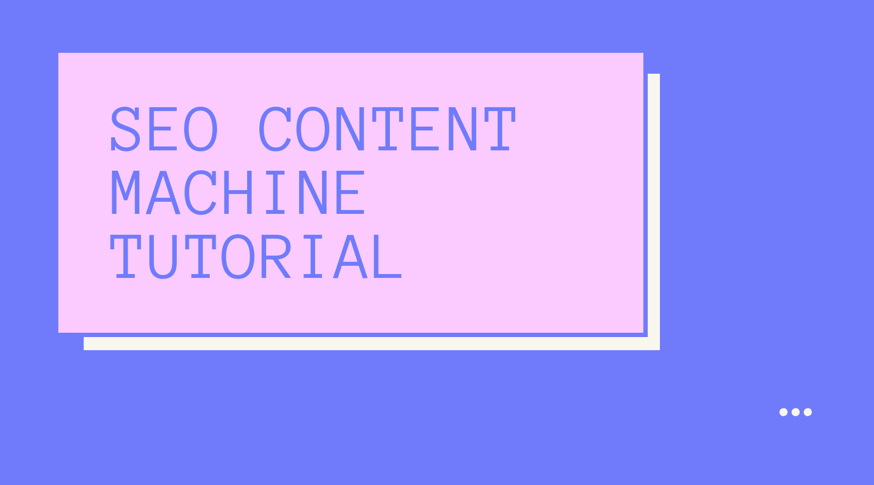SEO Content Machine Tutorial - Unique Content Generator and Auto Content Creation Tool