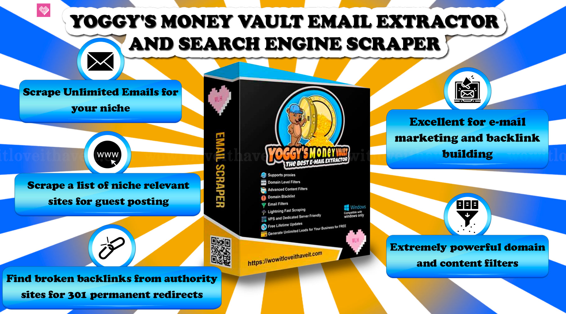 Yoggy's Money Vault Search Engine Scraper and Email Extractor
