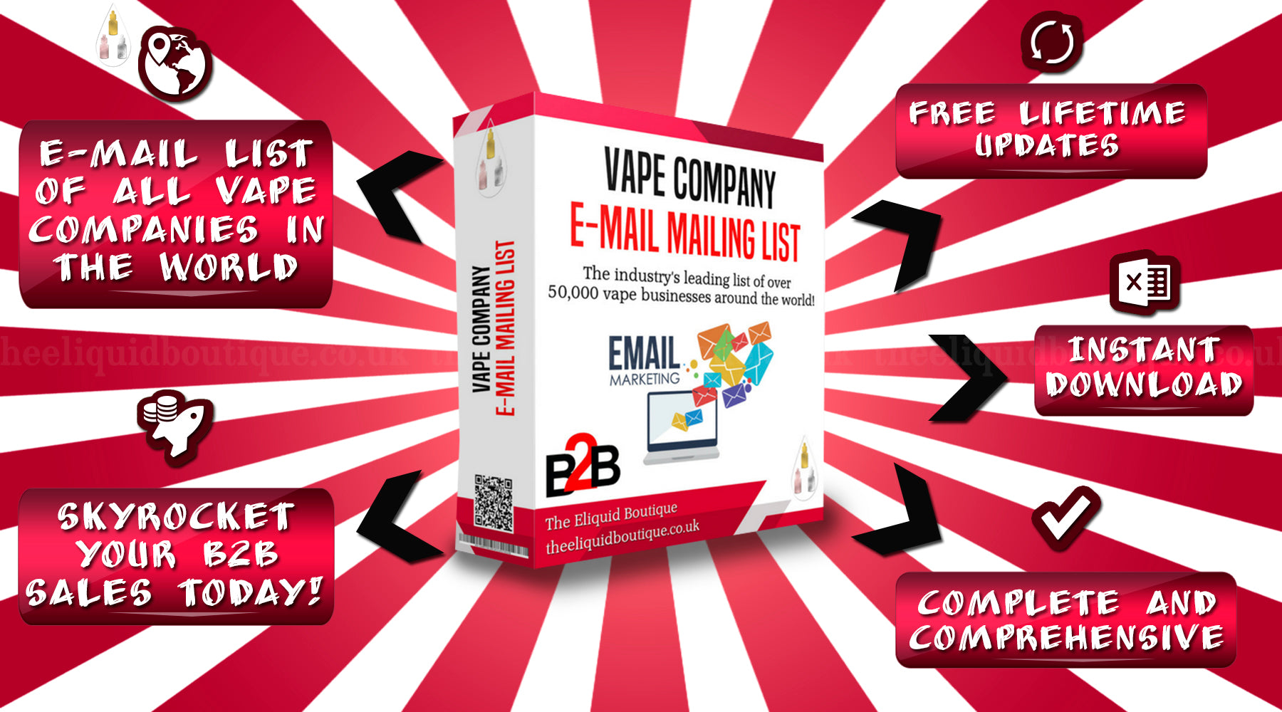 email list of all vape companies and vape shops