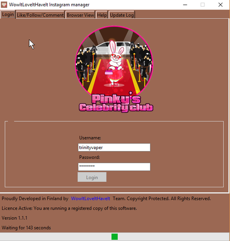 Pinky's Celebrity Club Instagram Bot for Real Followers and Likes