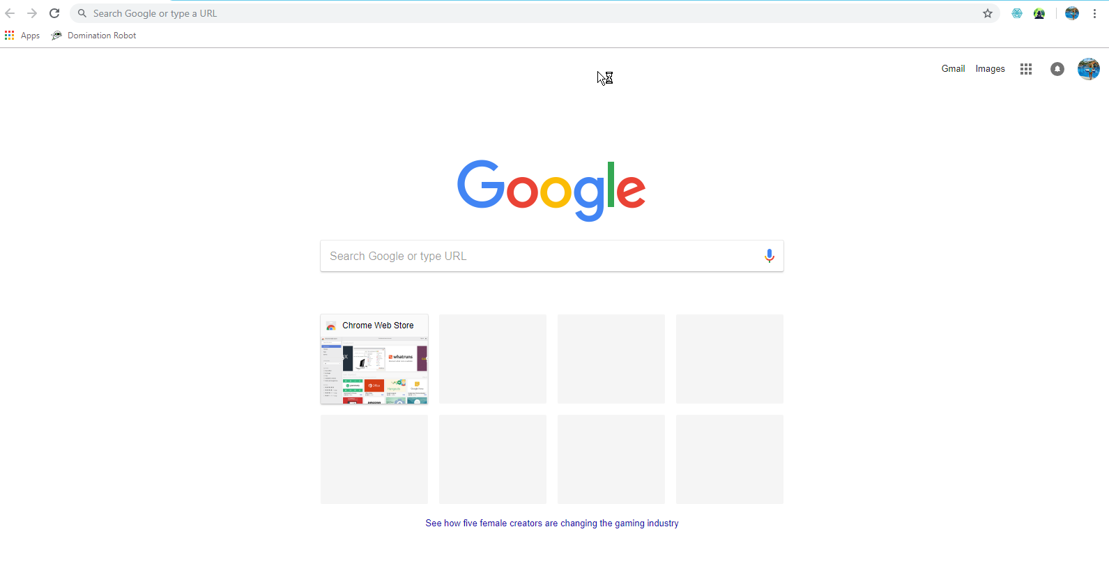 Open your Chrome browser and Go to Google
