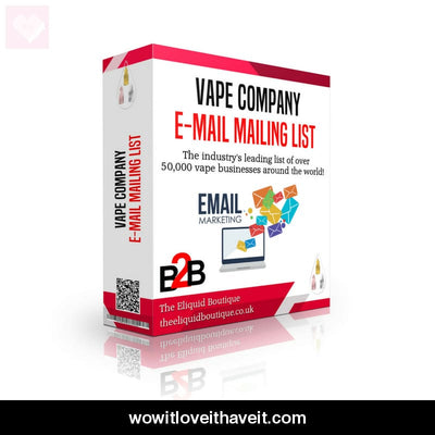 B2B Email Marketing List Of Vape Shops E-Liquid Brands And Vape Wholesalers - Wowitloveithaveit