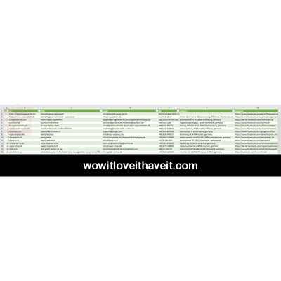 Germany Vape Shop Database - WowitLoveitHaveit