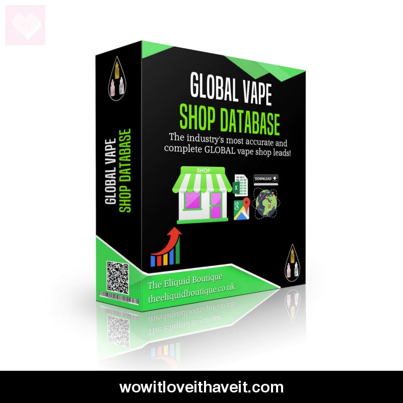 Global Vape Shop Database With Vape Shop Contact Details - Wowitloveithaveit