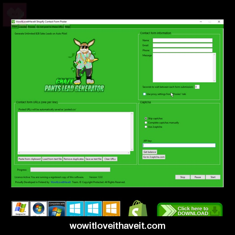 Shopify Contact Form Submitter Software - £200 00