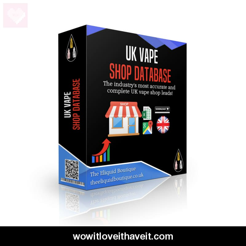 Uk Vape Shop Database With Vape Shop Contact Details - Wowitloveithaveit