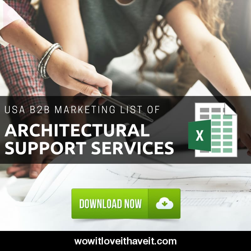 Usa Architectural Support Services Business E-Mails And Mailing List For B2B Marketing - Wowitloveithaveit