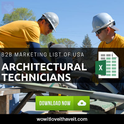 Usa Architectural Technicians Business E-Mails And Mailing List For B2B Marketing - Wowitloveithaveit