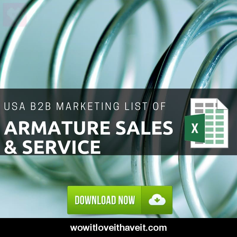 Usa Armature Sales & Service Business E-Mails And Mailing List For B2B Marketing - Wowitloveithaveit
