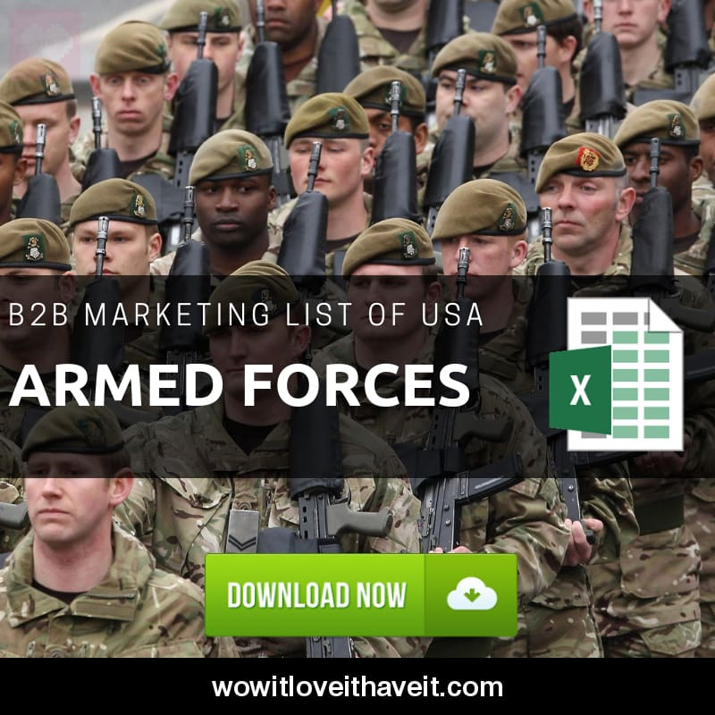 USA Armed Forces Business Marketing Data