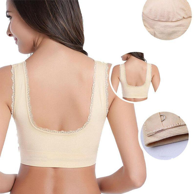 BRAUP™ : Wireless Front Cross Buckle Lace Lift Bra