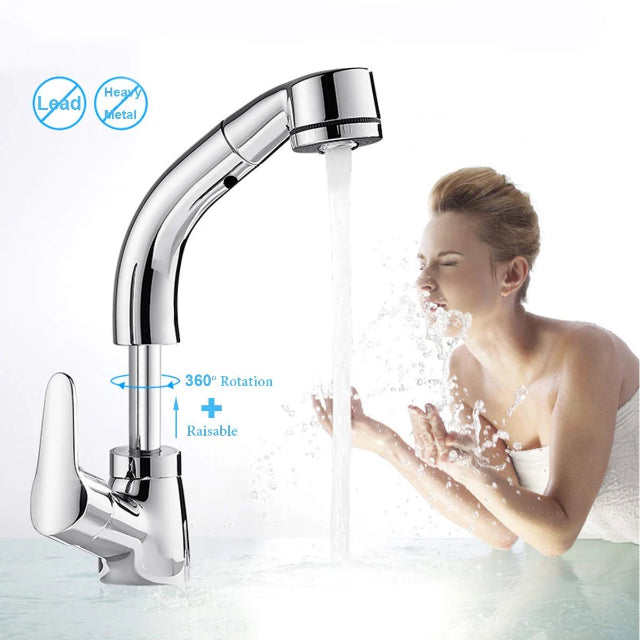 SPOUTY™ : Height Adjustable Pull-out Sink Tap