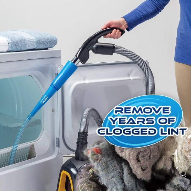 LINTVAC™ : Flexible Dryer Lint Vacuum Attachment