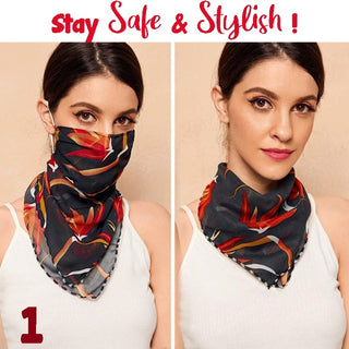 FLOMASK™ : Floral Print Protection Scarf Face Mask