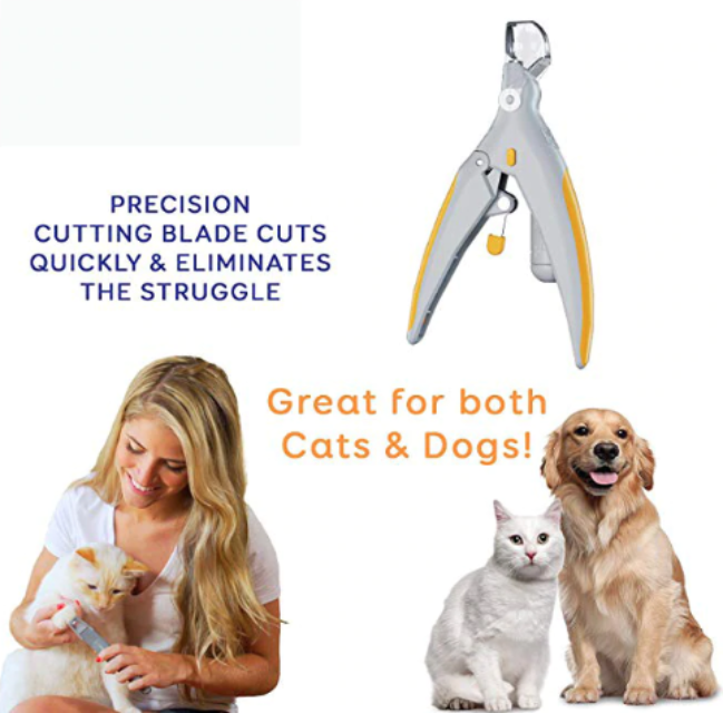 PETCLIP™ : Professional Pet Nail Clippers with LED Light & Magnification Mirror