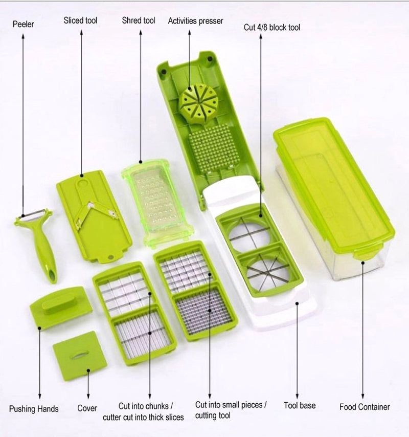 UNIVERSLICE ™ : 12 In 1 Vegetable Fruit Slicer