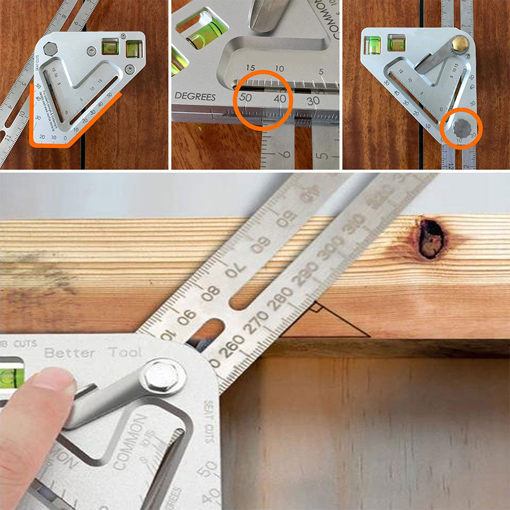 WODLER™: Multifunctional Carpentry Ruler Tool
