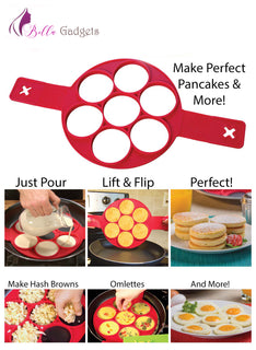 Pancaker™ Nonstick Pancake Ring in Red