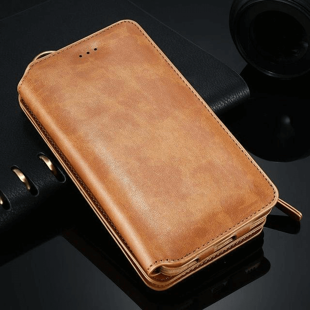 PHONELET™ : Luxury Retro Leather Wallet Case For iPhone and Samsung