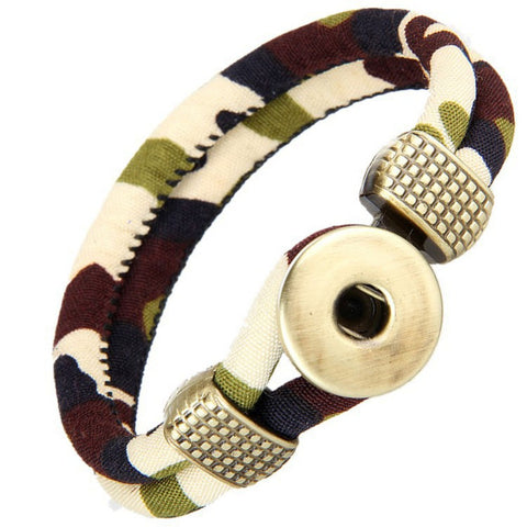 New! Retro Creative Camouflage Green Bracelet Red, Pink, Blue, Multi